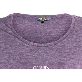 Meru Lidingö LS Shirt Damen deep purple melange